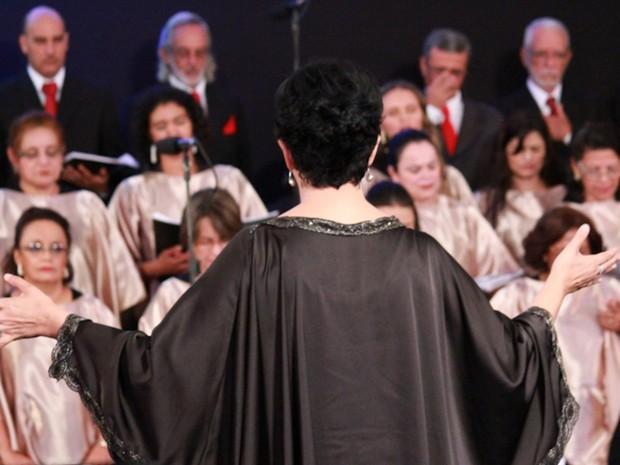 Concerto regido por Elen Lara traz canções natalinas tradicionais em Goiânia Goiás (Foto: Reprodução/Beto Ribeiro)