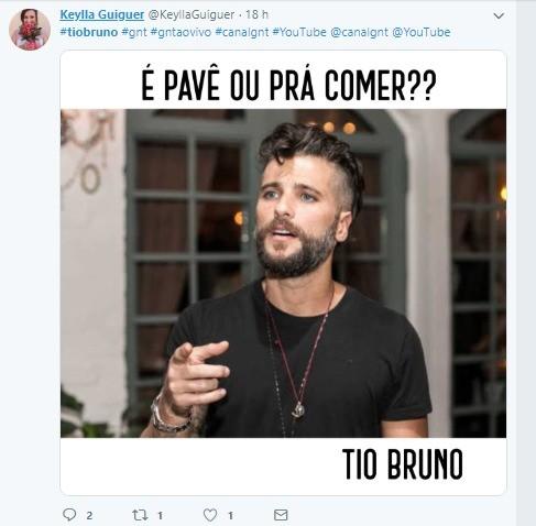 Internautas fazem meme de Bruno Gagliasso (Foto: Reproduo Twitter)