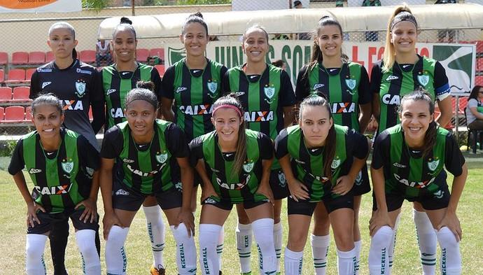 Time feminino do América-MG campeão mineiro de 2016 (Foto: Divulgação / AFC)