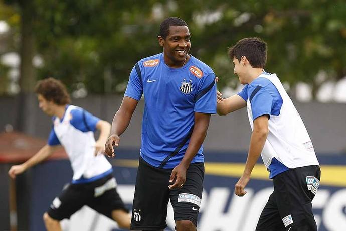 Renato Abreu Léo Cittadini Treino Santos (Foto: Ricardo Saibun / Santos FC)