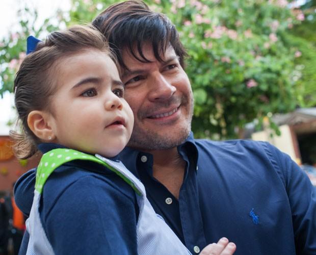 Paulo Ricardo e a filha Isabela (Foto: Arquivo Pessoal)