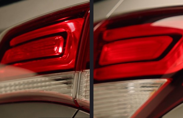 Teaser dá detalhes das luzes do novo Hb20 (Foto: reprodução)