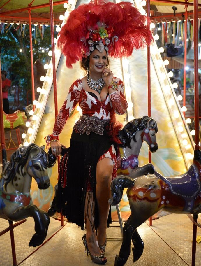 Luiza Brunet posa como Madá, sua personagem em 'Velho Chico' (Foto: Renato Rocha Miranda/ Globo)