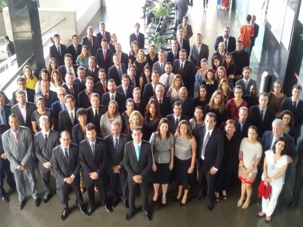 Cerca de 100 magistrados, procuradores e promotores participaram do ato. (Foto: João Augusto)