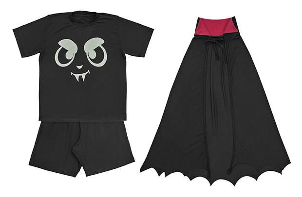 dedeka-pijama-halloween-capa-morcego (Foto: Divulgação)