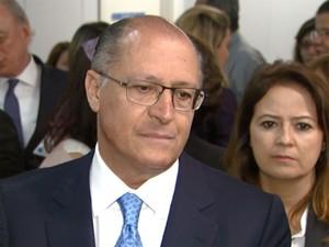 Governador Geraldo Alckmin durante visita a Louveira (Foto: Reprodução / EPTV)