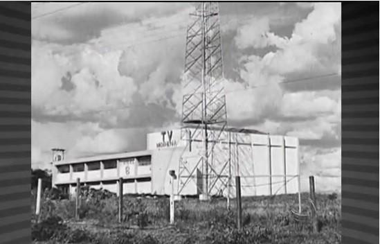 Primeiro prédio da TV Morena (Foto: TVMO)