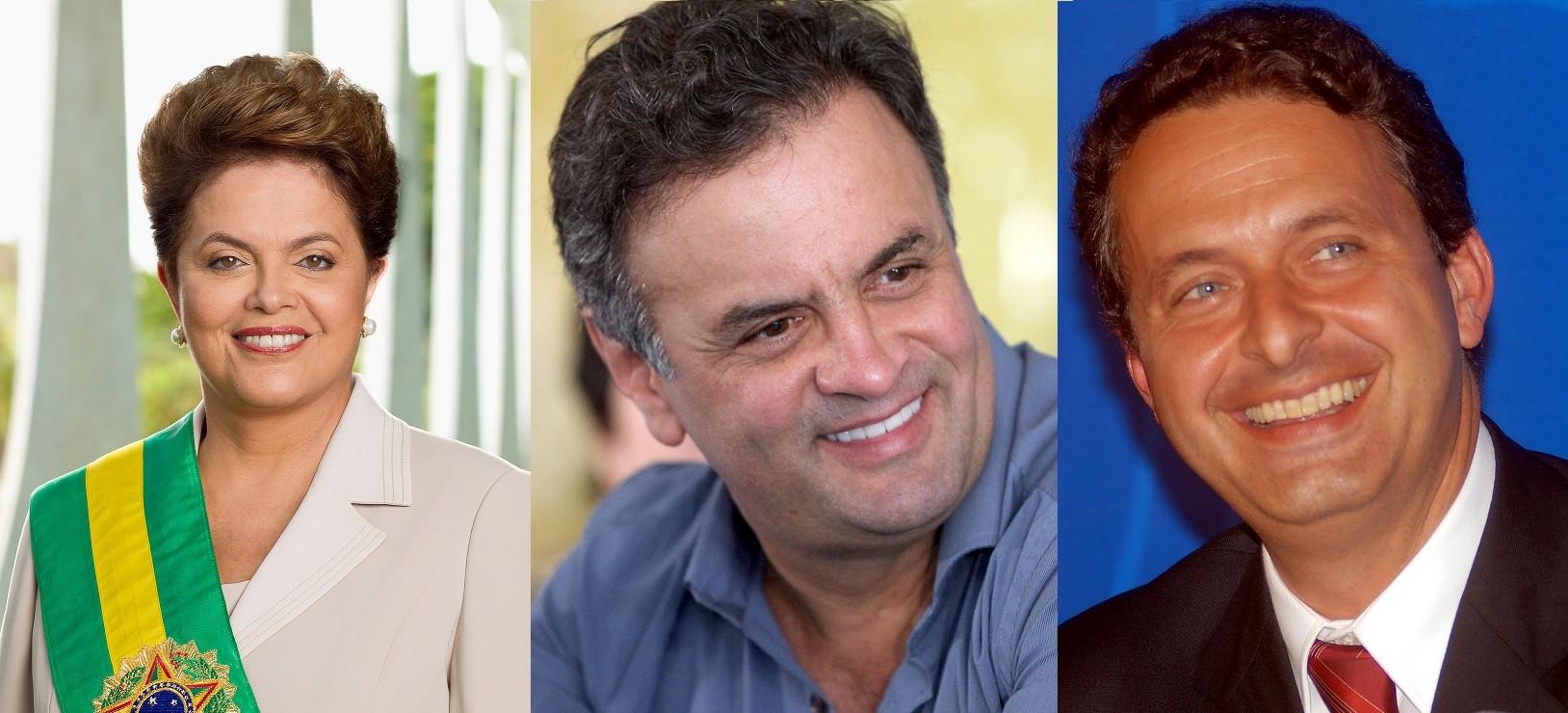 Análises contemplam os três candidatos que lideram as pesquisas: Dilma Rousseff, Aécio Neves e Eduardo Campos (Foto: Reprodução/Wikimedia Commons)