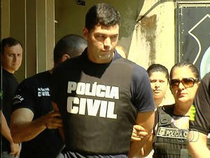 Suposto serial killer, vigilante Tiago da Rocha é transferido para a CPP, em Aparecida de Goiânia, Goiás (Foto: Reprodução/TV Anhanguera)
