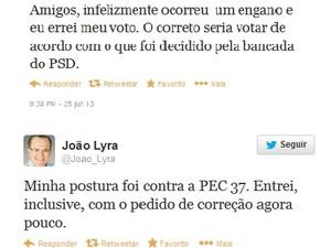 Em rede social, deputado afirmou ter pedido correção do voto. (Foto: Reprodução/Twitter)