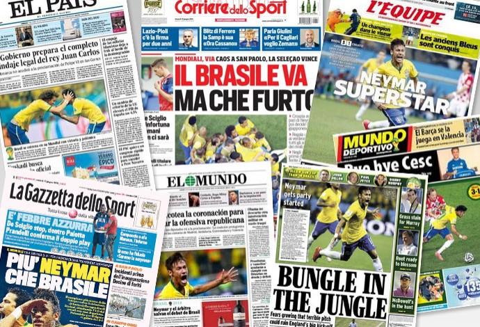 capas Jornais pelo mundo estreia brasil e croácia copa do mundo (Foto: Reprodução)