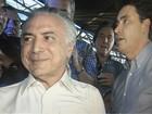 Em aniversário de senador em Goiás, Temer diz que quer 'unir o país'