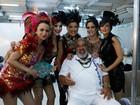 Elenco se prepara para desfile de 'Império' na Marquês de Sapucaí