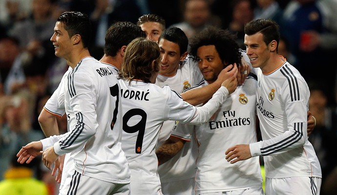 Marcelo Real Madrid x Levante (Foto: Reuters)