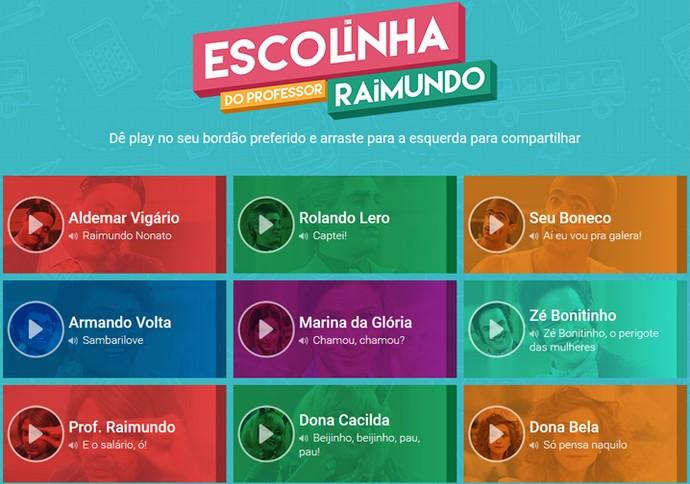Bordões Escolinha (Foto: TV Globo)