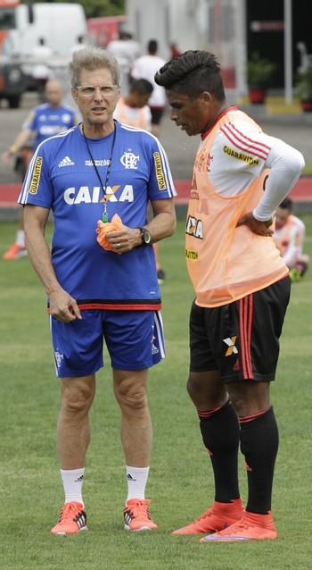 Treino Flamengo Oswaldo de Oliveira (Foto: Gilvan de Souza / Flamengo)
