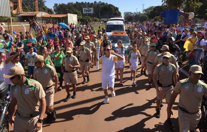 Tocha Olímpica no Mato Grosso do Sul (Foto: Pedro Veríssimo/GloboEsporte.com)