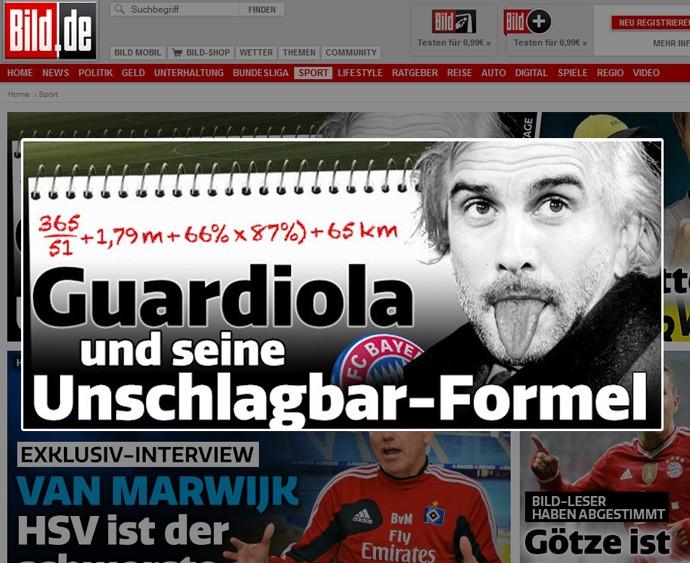 jornal Guardiola Einstein Bayern  (Foto: Reprodução / Bild)