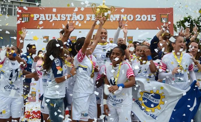 São José Futebol Feminino - campeão paulista (Foto: Rodrigo Corsi/FPF)
