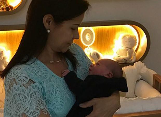 Suely Suita, mãe de Andressa Suita, e Gabriel (Foto: Reprodução/Instagram)