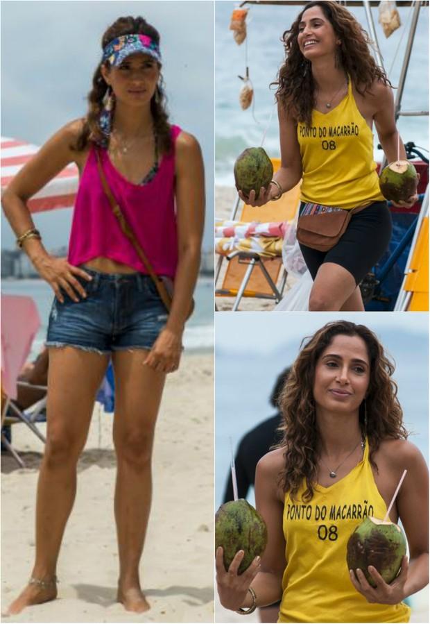Camila Pitanga pratica treino que mistura exercícios do crossfit, pilates e aikido (Foto: TV Globo/Divulgação)