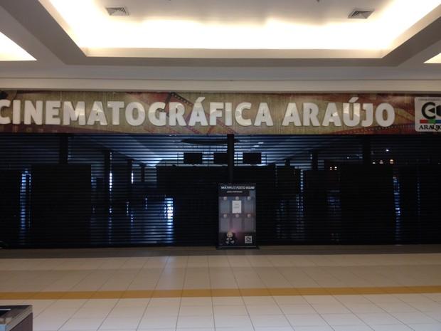 Cinema foi interditado na manhã desta quarta (16) em Porto Velho  (Foto: Ísis Capistrano/ G1)
