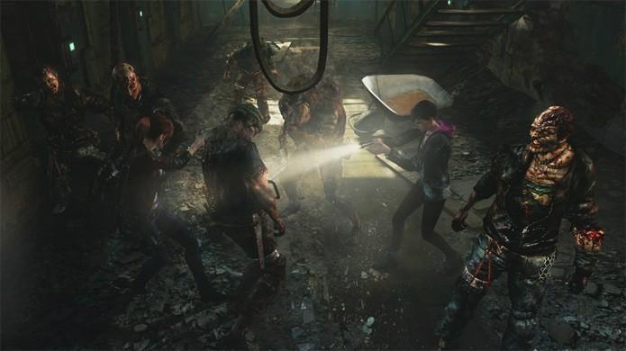 Moira e Claire se ajudam em Resident Evil Revelations 2 (Foto: Divulgação)