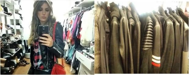 Rafa Brites é dona de uma coleção de jaquetas de couro ecológico: Tenho mais de 40 peças e de todos os tipos (Foto: Reprodução do Instagram)