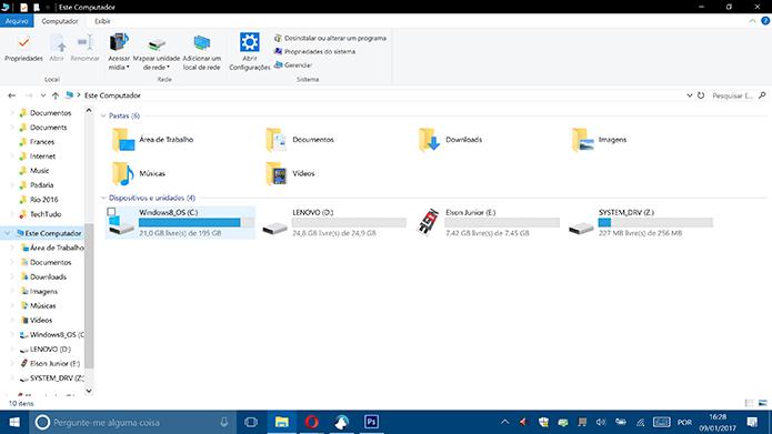 Windows mostra novo ícone de pendrive personalizado pelo usuário (Foto: Reprodução/Elson de Souza)