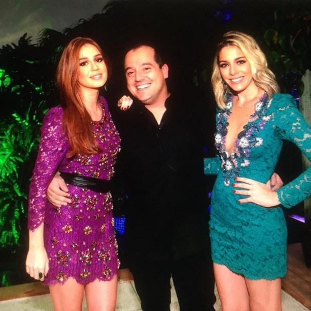 Marina Ruy Barbosa, Luma Costa e o promoter Michem Diamant (Foto: reprodução/instagram)