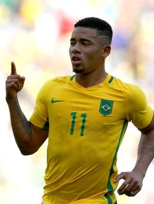 Gabriel Jesus Brasil e Honduras olimpíada (Foto: Agência Getty Images)