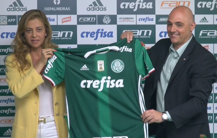 Leila Pereira e Mauricio Galiotte Palmeiras (Foto: reprodução)