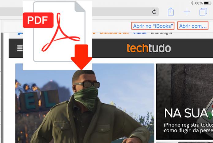 Aprenda salvar página web no Safari sem precisar de aplicativos (Foto: Reprodução/Edivaldo Brito)