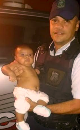 Bebê de dois meses se engasgou com leite materno (Foto: Divulgação/Polícia Militar)