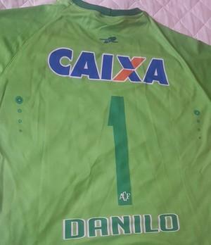Camisa Danilo Chapecoense (Foto: Arquivo pessoal)