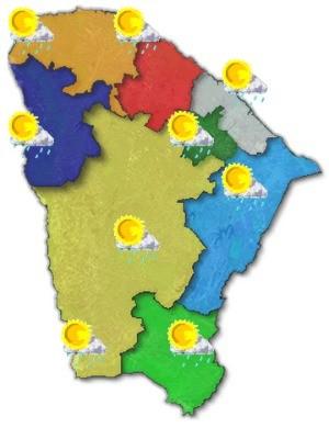 Previsão é de chuvas curtas em todas as regiões, diz Funceme (Foto: Funceme/Reprodução)