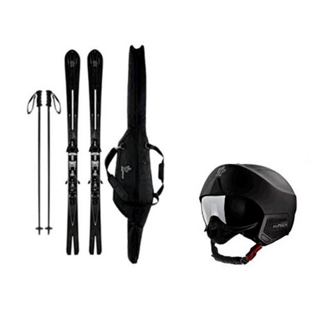 O ski e o capacete de neve das novas colaborações da Moncler (Foto: Divulgação)