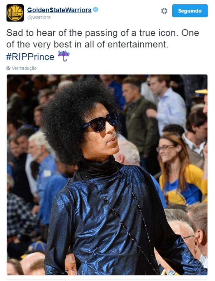 Prince, Golden State Warriors (Foto: Reprodução / Twitter)