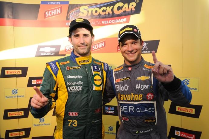Sergio Jimenez e Allam Khoadir foram os vencedores da etapa de Salvador da Stock Car (Foto: Fernanda Freixosa / Divulgação)