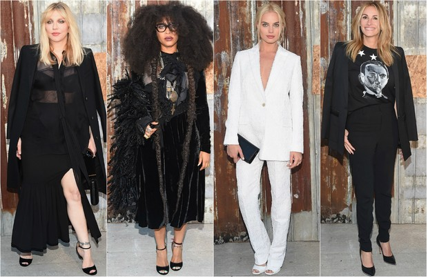 Famosas no desfile Givenchy (Foto: Getty Images | AFP)