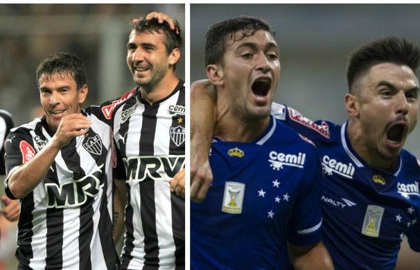 Atlético-MG e Cruzeiro (Foto: Montagem/GE)