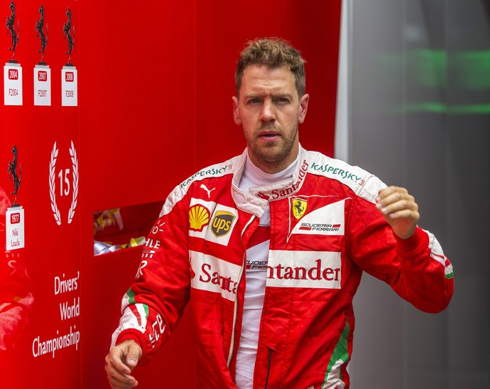 Sebastian Vettel no fim de semana de GP da Rússia (Foto: EFE)