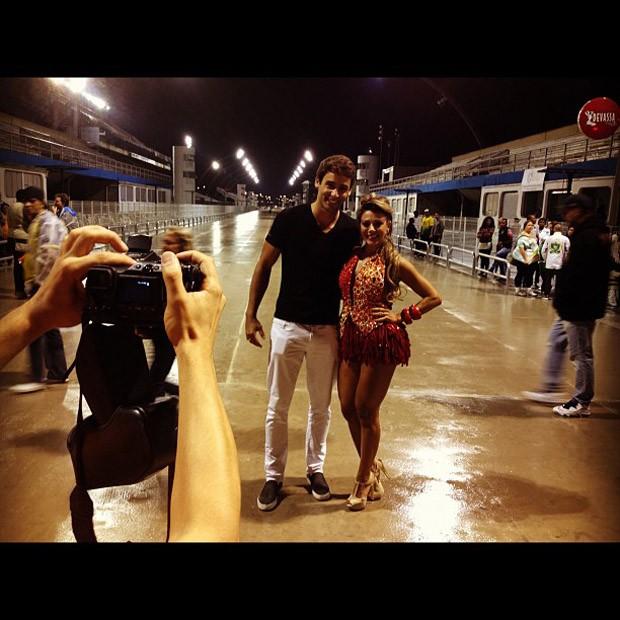 Ex-BBB Fabiana no ensaio técnico da Tom Maior, em São Paulo (Foto: Instagram / Reprodução)