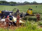 Piloto de avião que caiu sobre Kombi no Paraná recebe alta hospitalar