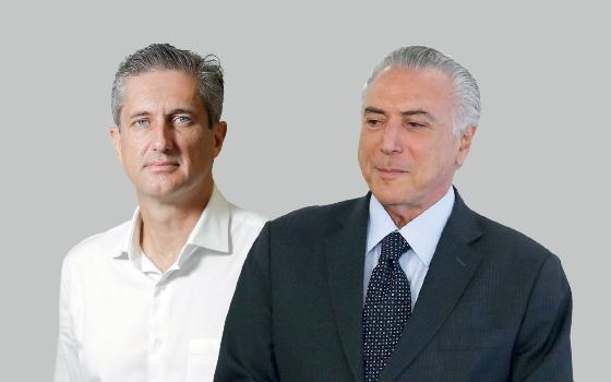 Rogério Rosso e Michel Temer (Foto: Sérgio Lima/Ed. Globo e Jorge William/Ag. O Globo )
