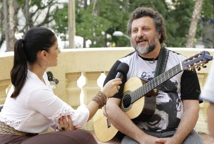 Shana bateu um papo com Marcelo Delacroix no Mala de Garupa (Foto: Arthur Cerri/Divulgação)