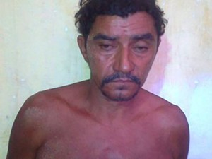 José Vieira, confessou o crime  (Foto: Aldivam Bezerra, soldado da PM)
