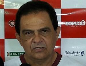 Francisco Diá - técnico do América-RN (Foto: Carlos Augusto/América FC)