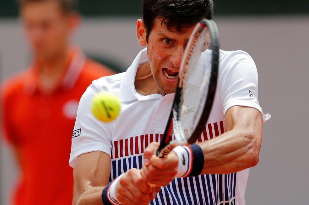 Novak Djokovic em Roland Garros (Foto: Reuters / Gonzalo Fuentes)