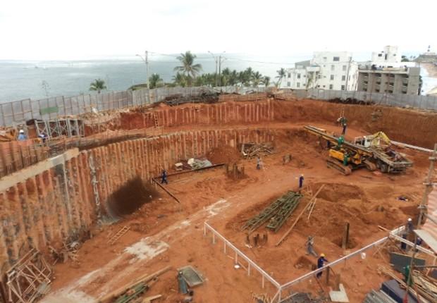 Obra da construtora Queiroz Galvão em Salvador (Foto: Divulgação)